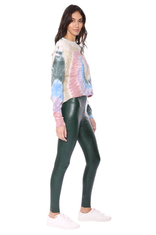 Autumn Tie Dye Long Sleeve Crop