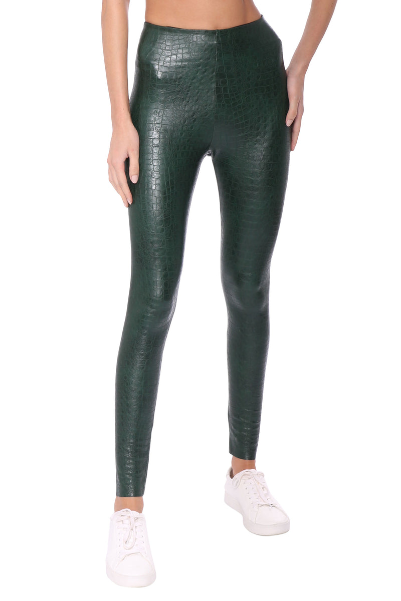Faux Leather Animal Leggings