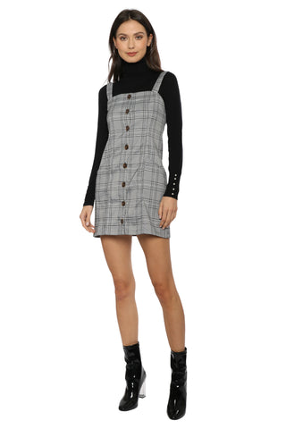 W.A.P.G. Button Down Plaid Dress