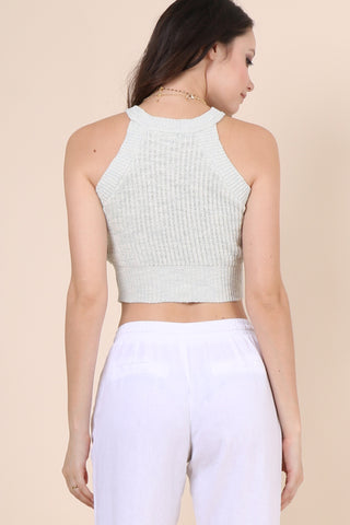 Gab & Kate Missed You Sweater Tank - Mint