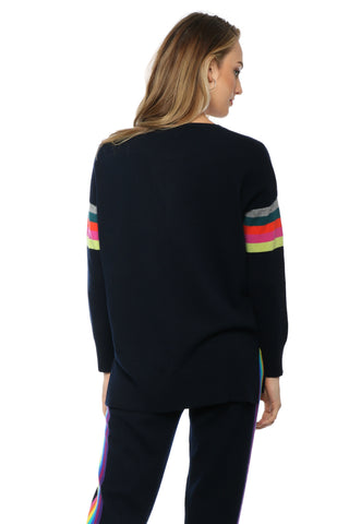 WYSE Kenza Rainbow Arm Sweater