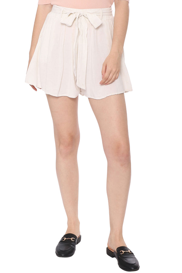 Go With The Flowy Linen Shorts