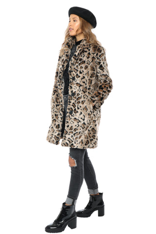 BB Dakota Rooney Leopard Faux Jacket