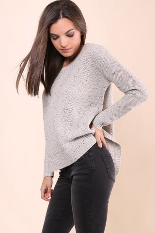 Decker Luxe Basket Weave Crew Sweater