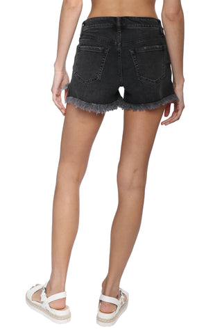 Just Black Fray Hem Short