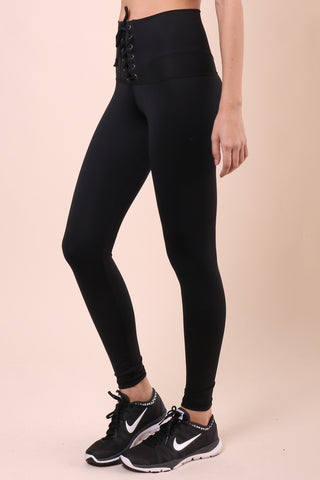 Strut-This Highwaist Lace Up Leggings