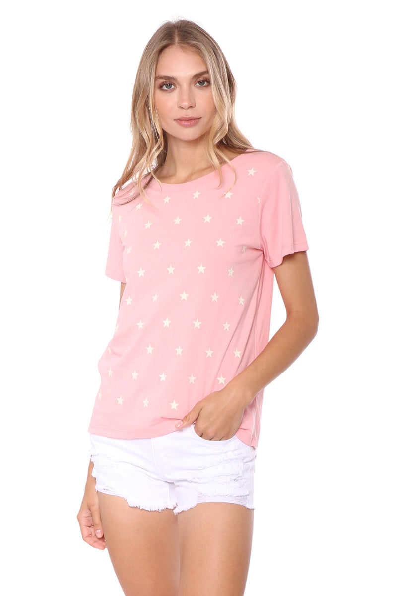 South Parade Pink Mini Stars Tee