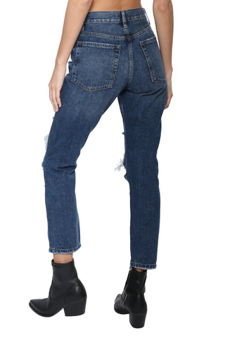 Just Black High Rise Super Destroyed Girlfriend Jean