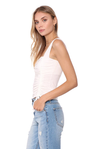 Jac Parker Ruched Square Neck Top