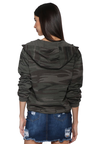 Z Supply The Camo Knit Hooded Jacket