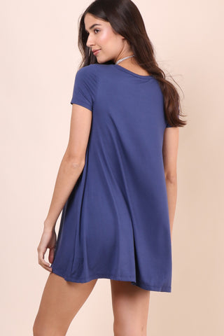 Jac Parker Valley Tee Dress - Blue