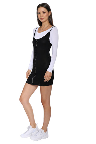 Sunday Stevens Zip Up Mini Dress