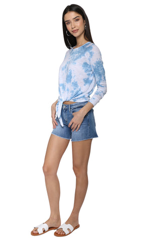 Flying Monkey Mid Rise Raw Hem Shorts