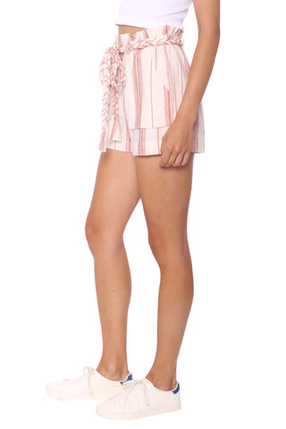 Shabby Chic Birch Stripe Rope Tie Shorts