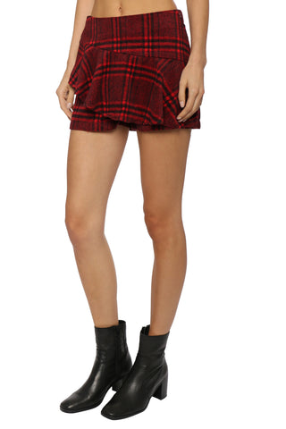 Gab & Kate Plaid Ruffle Skort
