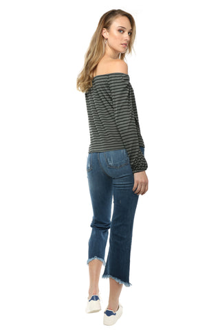 Jac Parker Off The Shoulder Stripe Top