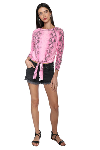Brooklyn Karma Snake Skin Top with Tie