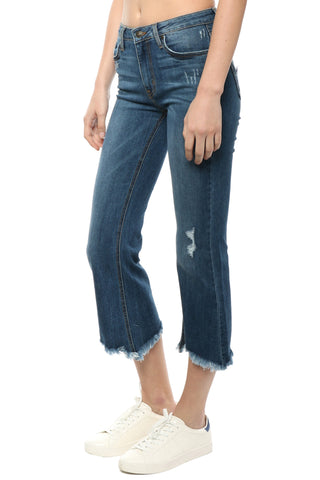Just Black Frayed Flare Jeans