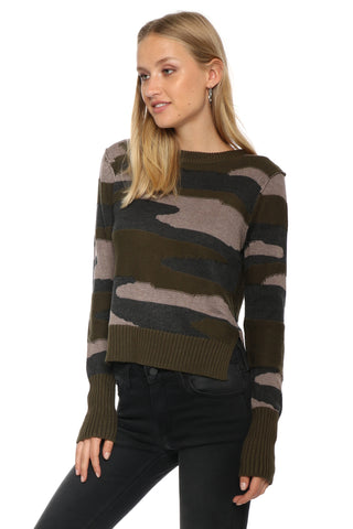 Fox + Hawk Camo Tie Back Sweater