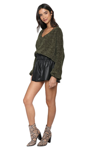 Fox + Hawk Get With Knit Distressed Sweater