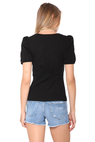 Shabby Chic Rosalie Empire Waist Top Black
