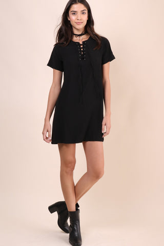 Bianca Risa Lace Up Dress