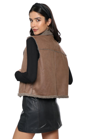 Jack Back In Time Shearling Vest