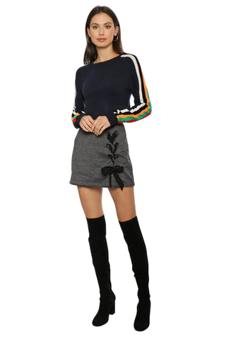 Proper Education Color Striped Sweater