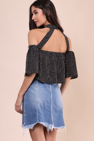 Flynn Skye Rose Top Black Orbit