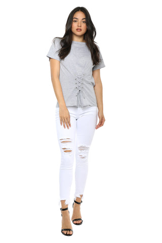 Brooklyn Karma Lace Up Corset Tee