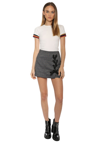Gab & Kate Plaid Side Lace Up Skort