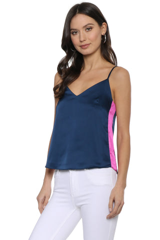Decker Satin Side Stripe Cami