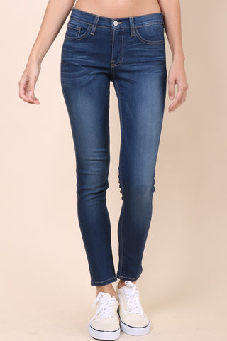 Flying Monkey Mid Rise Dark Wash Skinny