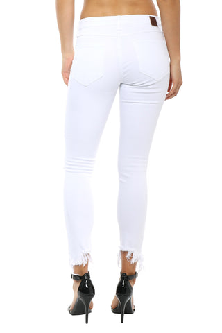 Hidden Amelia Distressed White Skinny Jean