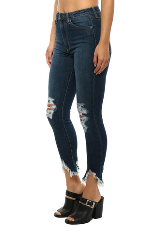 Just Black High Rise Cropped Skinny