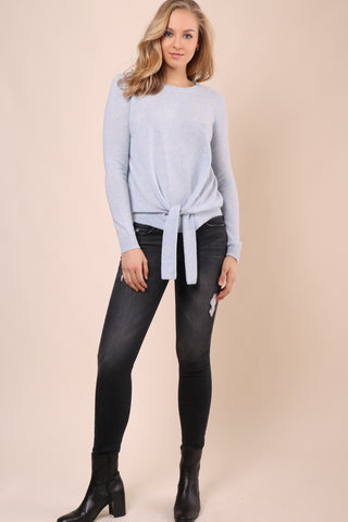 Decker Luxe Tie Front Cashmere Sweater