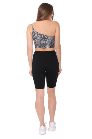 Suzette One Shoulder Cropped Cami