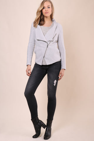 BB Dakota Fleece Moto Jacket