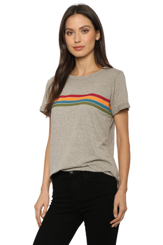 Sunday Stevens Retro Rainbow Tee