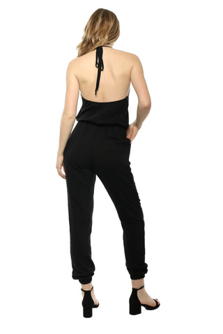 Sunday Stevens Lace Up Jumpsuit
