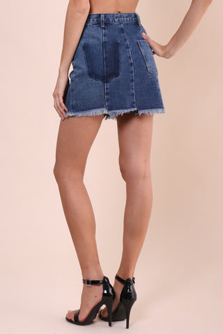 Brooklyn Karma Denim Mini Skirt