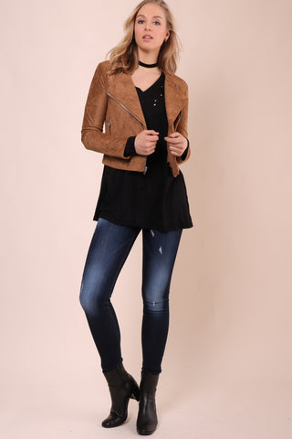 BB Dakota Allerton Faux Suede Jacket