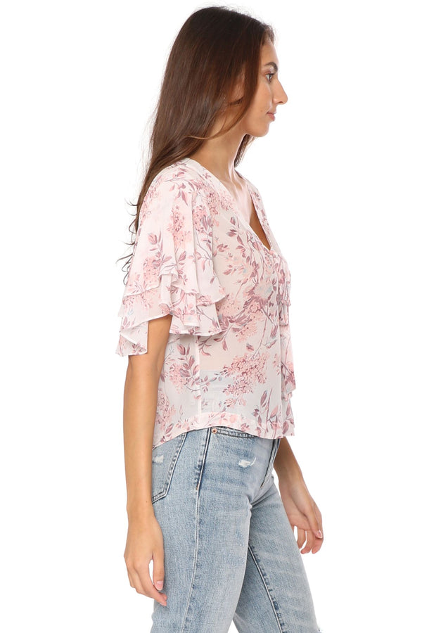 Shabby Chic Bryce Tiered Sleeve Blouse
