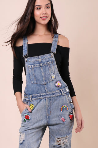 Jordyn Jagger Patched Overalls