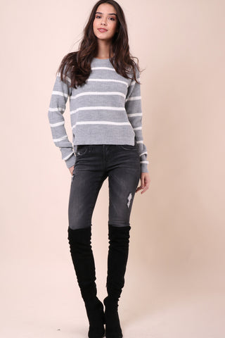 Gab & Kate Stripe Crew Sweater