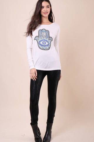 Jonathan Saint Hamsa Long Sleeve Tee