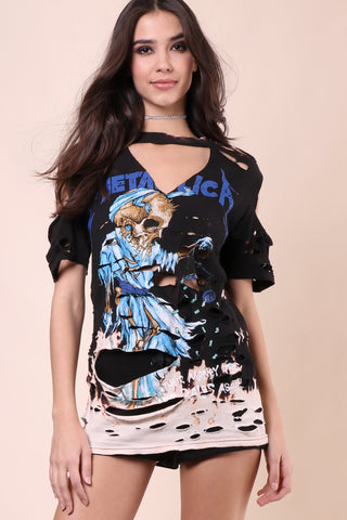 Jonathan Saint Metallica Distressed Tee