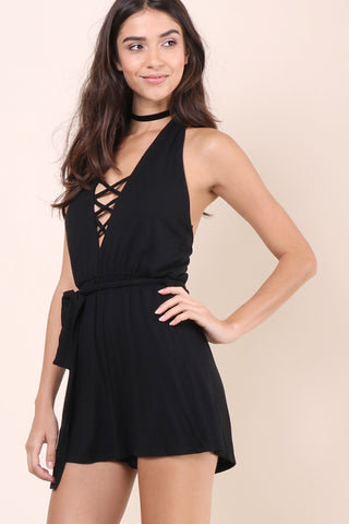 Sunday Stevens Criss Cross Romper