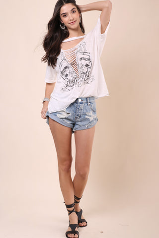 Jonathan Saint Free Spirit Lace Up Tee