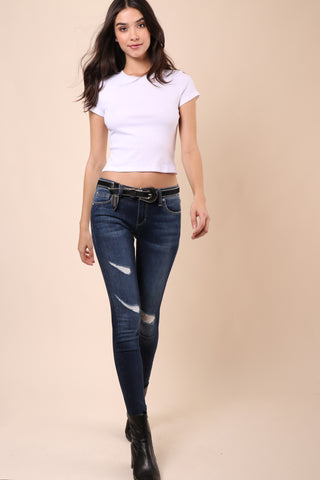 Jac Parker Ribbed Basic Tee